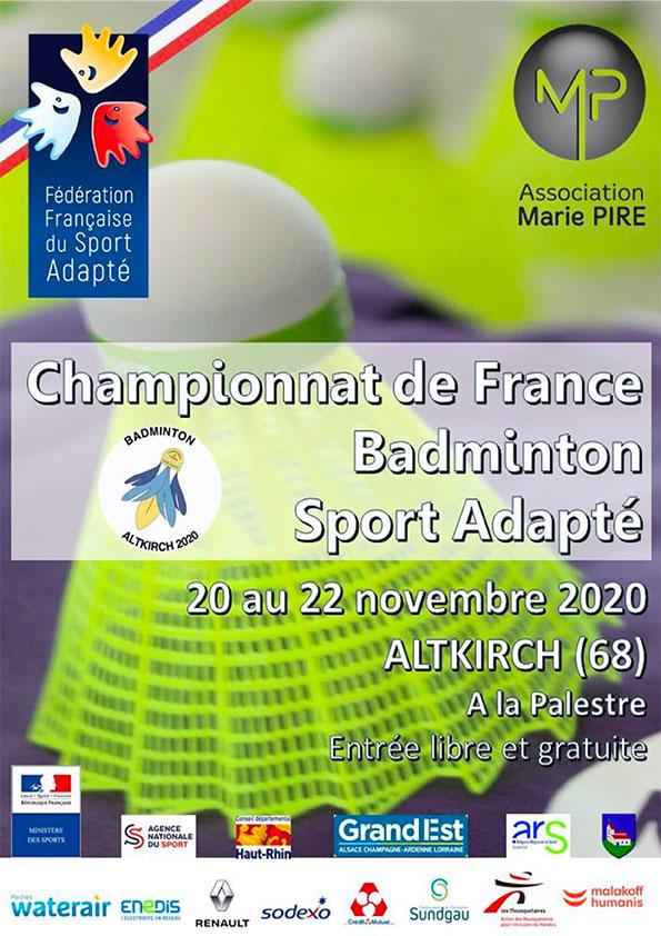 Championnat de France Para badminton adapté 2020