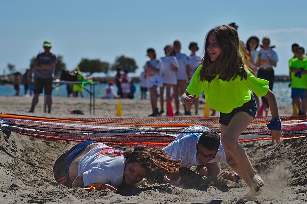 Sport adapté jeune - Epreuve de plage