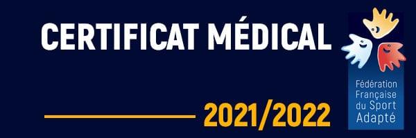 CERTIFICAT MÉDICAL FFSA 2021-2022