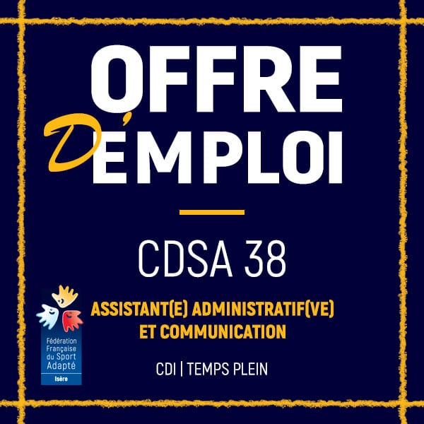 Offre d'emploi CDSA 38