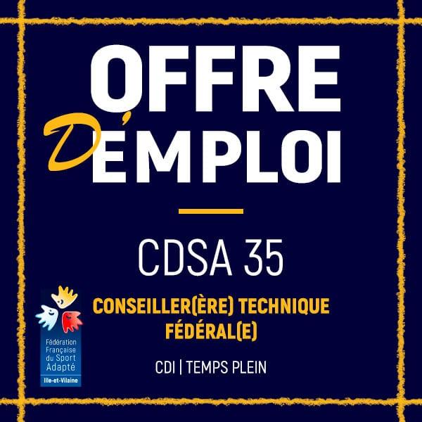Offre d'emploi CDSA 35
