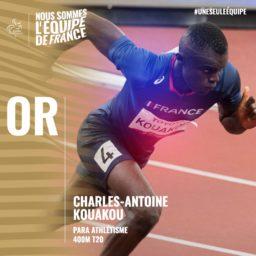 Médaille d'or pour Charles-Antoine Kouakou aux Jeux paralympiques de Tokyo2020