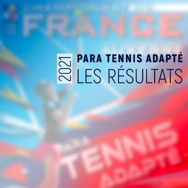 Résultats CF para tennis adapté 2021